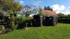 Toilet cabin and Shower, Washing Machine, Rubbish Disposal and CDP emptying point